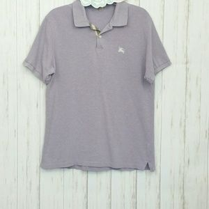 Burberry Brit Light Purple Polo Shirt Sz M